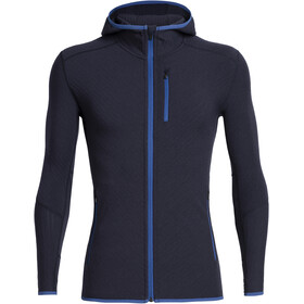 Icebreaker Descender LS Zip Hood Herre Midnight Navy